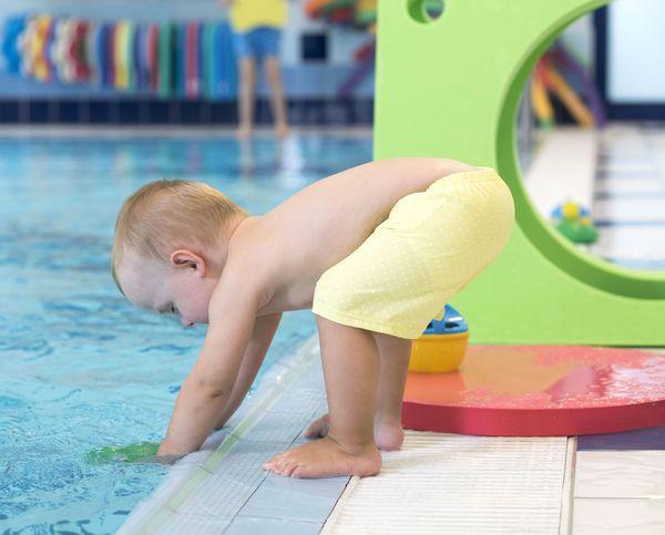 lekce na velkém bazénu
